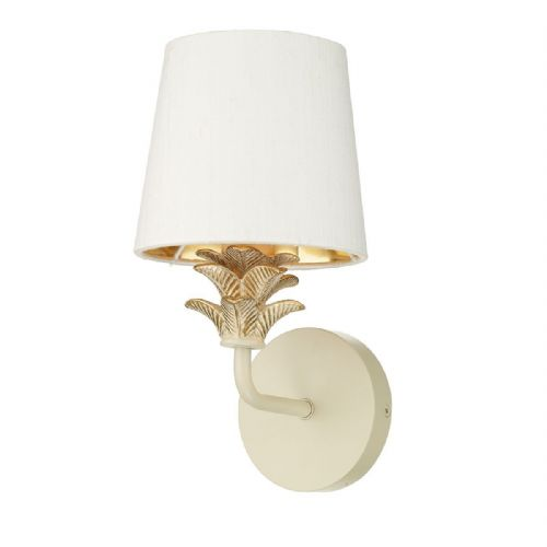 Cabana Single Wall Bracket Cream/Gold Fitting only (Hand made, 7-10 day Delivery)